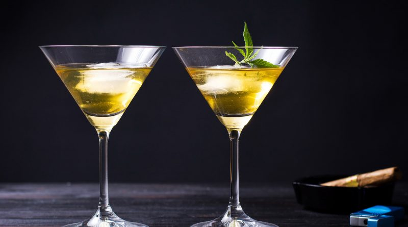 Cannabis Infused Holiday Drinks in a Martini Glass