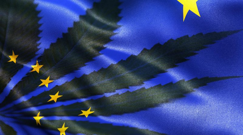 State of Alaska Flag and Cannabis leaf